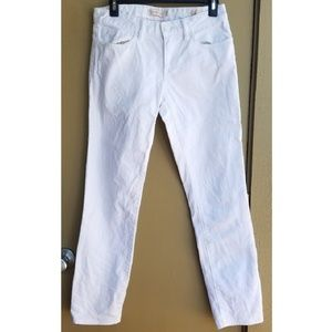Tory Burch White Cropped Skinny Jeans